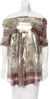 Etro Off-The-Shoulder Metallic Tunic