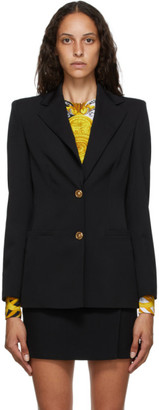 Versace Black Two-Button Blazer