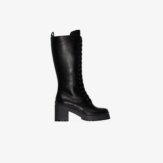 Miu Miu Black 75 Knee-High Leather Boots