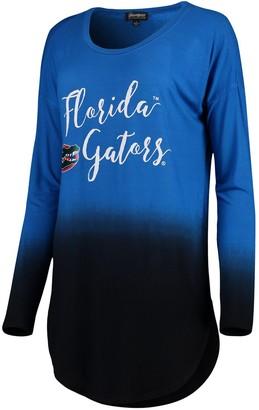 Women's Royal Florida Gators Own It Ombre Long Sleeve Tunic Shirt
