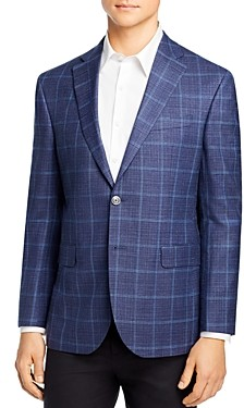 Jack Victor Windowpane Plaid Regular Fit Sport Coat