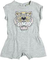 Kenzo Tiger Print Cotton Jersey Romper