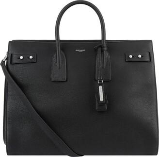 Saint Laurent Grained Leather Sac De Jour Tote Bag