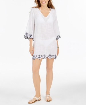 Dotti Rosemary Cotton Embroidered Tunic Cover-Up Women's Swimsuit