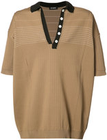 Raf Simons knitted polo shirt - men - Polypropylene - One Size