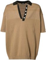 Raf Simons knitted polo shirt