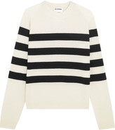 Jil Sander Striped Cashmere Sweater - White