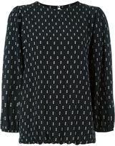 Societe Anonyme printed balloon sleeve blouse