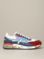 Premiata Django Sneakers In Mesh Suede And Bicolor Leather