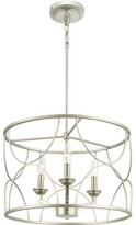 Jezebel 3 - Light Candle Style Drum Chandelier with Crystal Accents Mercer41 Finish: Silver Ridge