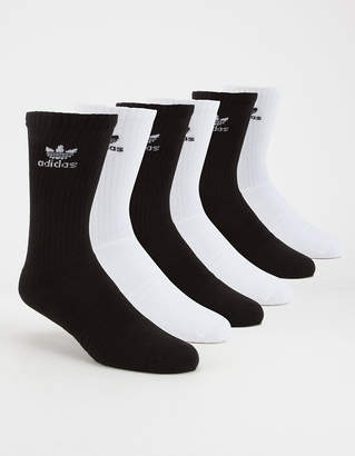 adidas 6 Pack Trefoil Mens Crew Socks