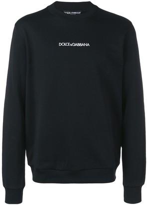 Dolce & Gabbana Contrast Logo Jumper