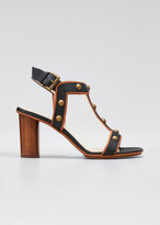 Rodo 80mm Heeled Sandals With Brass Studs