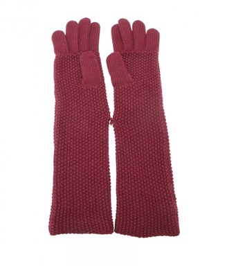Chanel Red Wool Gloves
