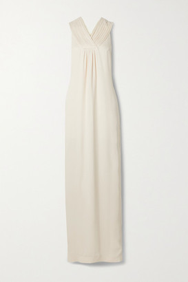 TOVE Isola Silk-crepon Maxi Dress - Off-white