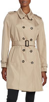 Calvin Klein Petite Button-Front Trench Coat