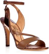 Salvatore Ferragamo Tabac Ankle Strap Sandals
