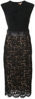 Michael Kors embroidered flowers dress - women - Cotton/Rayon/Polyamide - 2
