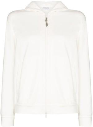 Brunello Cucinelli Zip-Up Long-Sleeve Hoodie