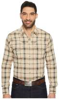 Wrangler Long Sleeve Retro Snap Dobby Men's Clothing