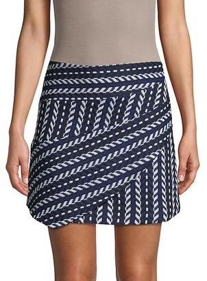 Haute Rogue Chevron-Knit Mini Skirt