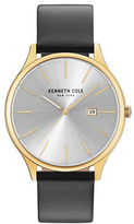 Kenneth Cole Classic Stainless Steel Analog Leather Strap Watch
