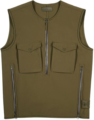 Stone Island Ghost army green shell gilet