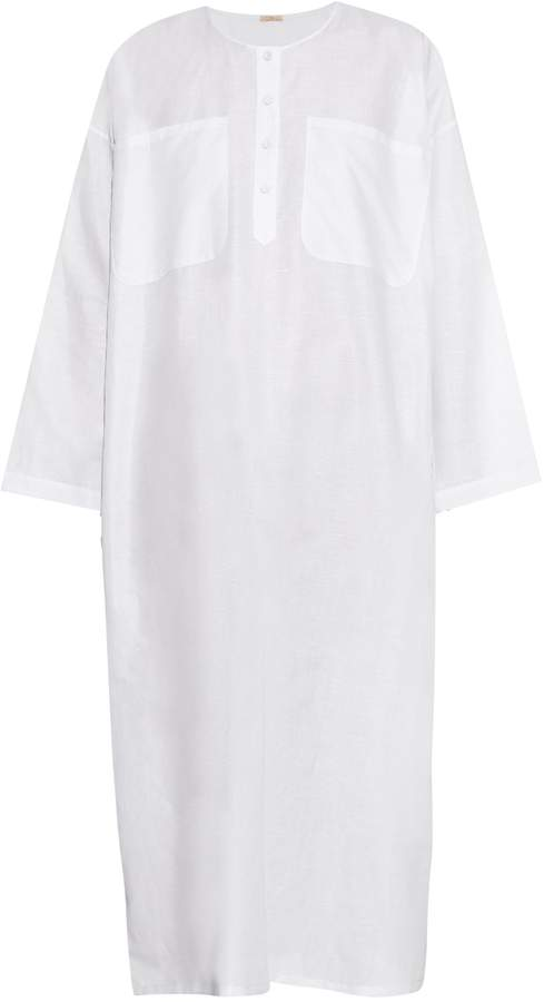 ADAM by Adam Lippes Round-neck cotton and linen-blend dress