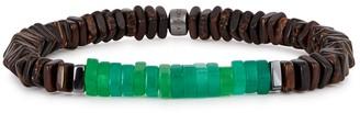 Tateossian Legno large beaded bracelet