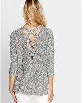 Express marled crossback v-neck shaker knit sweater