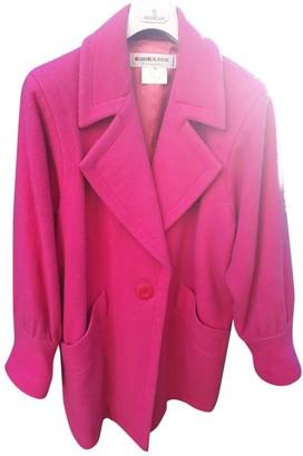 Saint Laurent Pink Wool Coat for Women Vintage