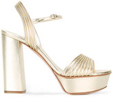 Casadei open toe platform sandals - women - Leather - 40