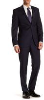 Simon Spurr Blue Micro-Dot Two Button Notch Lapel Wool Regular Fit Suit