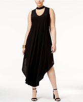 Love Squared Trendy Plus Size Choker Maxi Dress