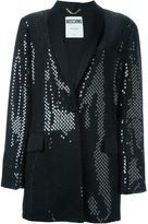 Moschino sequin embellished tuxedo jacket - women - Silk/Polyester - 46