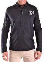 Richmond Men's Black Polyester Polo Shirt.