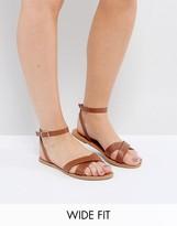 Asos FEEL GOOD Wide Fit Flat Sandals