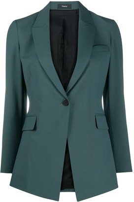 Theory Tailored Single-Breasted Blazer