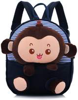 Speedcarbon11 Unisex Kids Backpacks Little Boys Girls Lovely Plush Monkey Shoulders Bag Toddler School bags