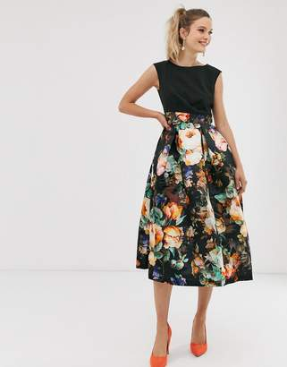 Closet London Closet pleated skirt dress-Black