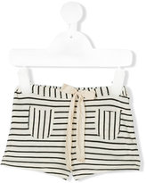Babe And Tess - striped shorts - kids - Cotton - 6 mth