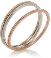 10K Gold 1mm Set of 3 Polished Band Rings