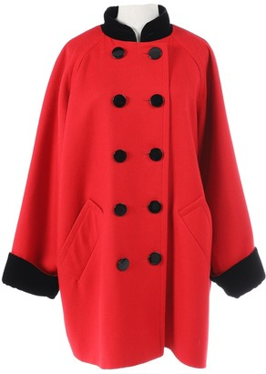 Givenchy Red Wool Coats