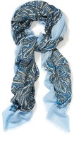J.Mclaughlin Giselle Silk Scarf in Cavesson