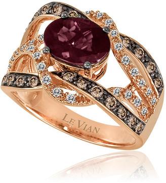 LeVian Le Vian 14K Strawberry Gold 2.40 Ct. Tw. Diamond & Rhodolite Ring