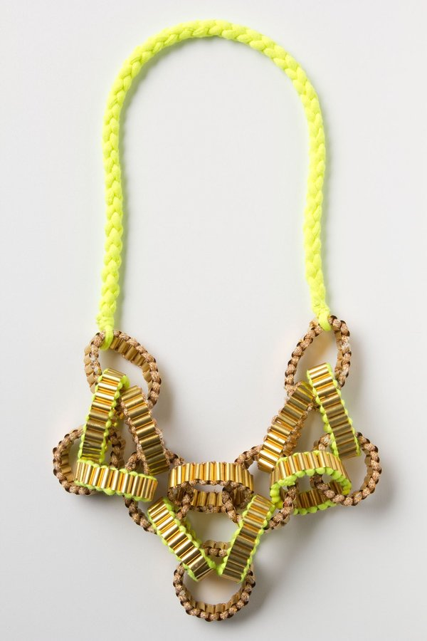 Anthropologie Crepe Chain Neon