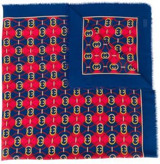 Gucci GG printed scarf