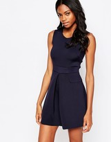 AX Paris Pleated Skater Dress with Pockets
