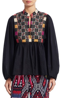 Figue Nora Cotton Embroidery Blouse