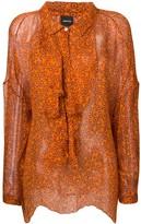 Aspesi floral chiffon blouse